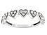 White Diamond 10k White Gold Heart Band Ring 0.25ctw