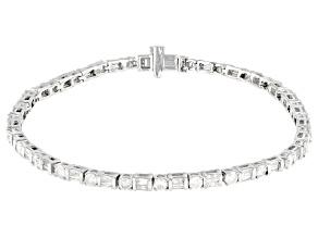 White Diamond 10k White Gold Tennis Bracelet 3.50ctw