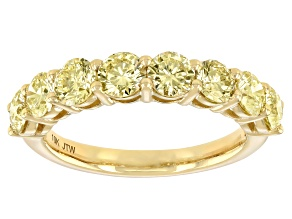 Natural Yellow Diamond 10k Yellow Gold Band Ring 2.00ctw