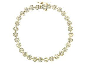 Natural Yellow Diamond 10k Yellow Gold Tennis Bracelet 5.50ctw
