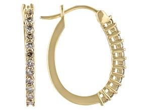 Candlelight Diamonds™ 10k Yellow Gold Hoop Earrings 0.50ctw