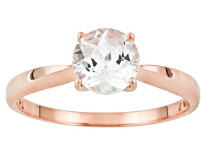 Pink Round Cor-De-Rosa Morganite™ 10k Rose Gold Solitaire Ring 0.95ct