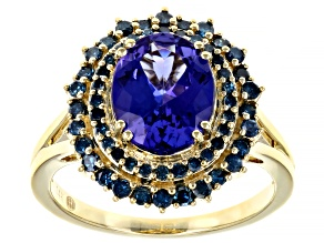 Blue Tanzanite 14k Yellow Gold ring 2.83ctw