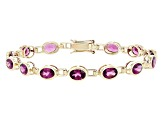 Purple Grape Color Garnet 10K Gold Bracelet 9.73ctw
