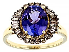Blue Tanzanite 14k Yellow Gold Ring 2.82ctw