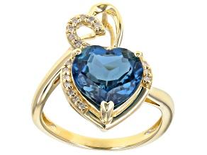 London Blue Topaz 10K Yellow Gold Ring 3.94ctw