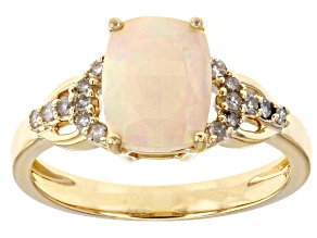 Multi-Color Opal 10K Yellow Gold Ring 1.35ctw