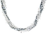 White crystal quartz sterling silver necklace