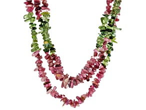 Multi-color tourmaline sterling silver necklace