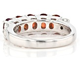 Red labradorite rhodium over sterling silver band ring 1.36ctw