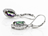 Multicolor Mystic(R) Topaz Rhodium Over Sterling Silver Earrings 2.17ctw