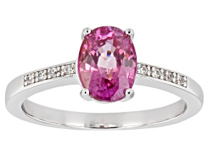Pink Zircon Rhodium Over Silver Ring 1.81ctw