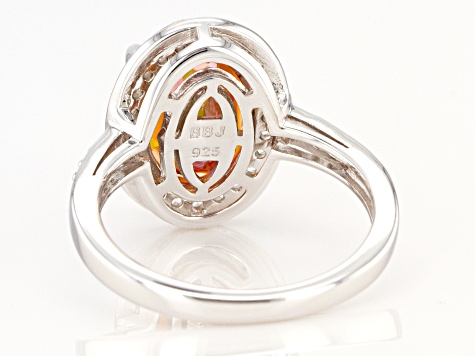 Multicolor Northern Lights™ Quartz Rhodium Over Sterling Silver Ring 3.84ctw
