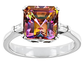 Multicolor Northern Lights™ Quartz Rhodium Over Sterling Silver Ring 2.15ctw