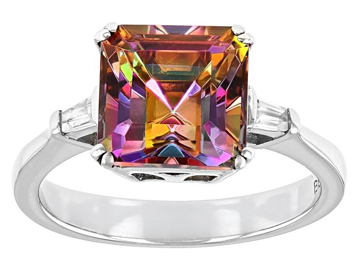 Garnet and rainbow solar quartz sterling silver lizard pendant 3\u201d