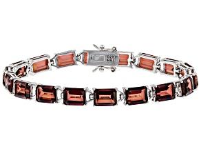 Red labradorite rhodium over sterling silver bracelet 23.40ctw