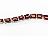 Red labradorite rhodium over sterling silver bracelet 23.40ctw