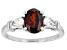 Red garnet rhodium over sterling silver ring 1.52ctw