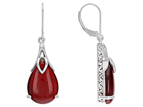 Rhodium Over Sterling Silver Earrings