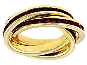 Gold Tone Red Swarovski Elements ™ Crystal Ring