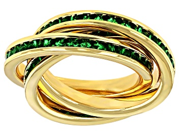 Picture of Green Swarovski Elements ™ Crystal Gold Tone Ring