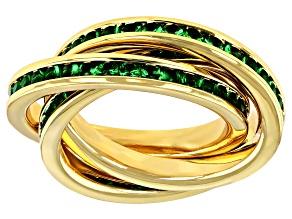Green Swarovski Elements ™ Crystal Gold Tone Ring