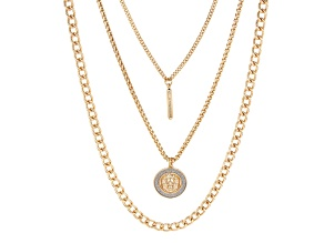 Gold Tone Set of 3 Layered Chain Necklaces