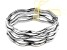Silver Tone Set of 5 Bangle Bracelets