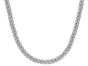 Silver Tone Mesh Necklace