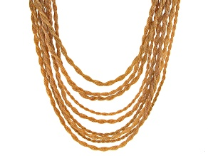 Gold Tone 9-Strand Layered Mesh Necklace