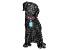 Multicolor Crystal Gunmetal Tone Labrador Retriever Brooch