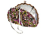Multicolor Crystal Rose Tone Hummingbird Clutch
