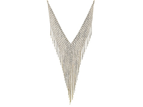 Off Park ® Collection White Crystal Gold Tone Statement Necklace