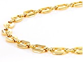 Gold Tone Endless Fancy Link Chain