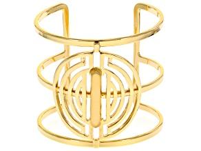Gold Tone Geometric Cuff Bracelet