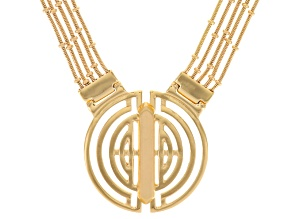 Gold Tone Geometric Necklace
