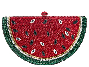 Off Park ® Collection Multicolor Crystal Gold Tone Watermelon Clutch