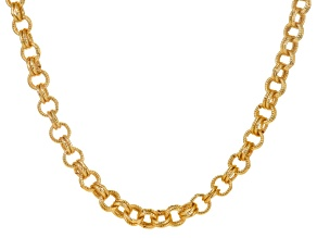 Off Park ® Collection White Crystal Gold Tone Double Rolo Chain Necklace