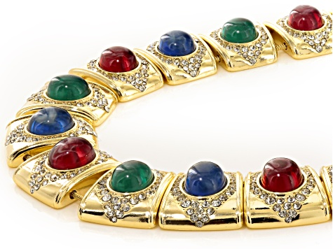 Off Park ® Collection Multicolor Crystal Gold Tone Statement Necklace