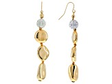 Off Park ® Collection White Crystal Gold Tone Dangle Earrings