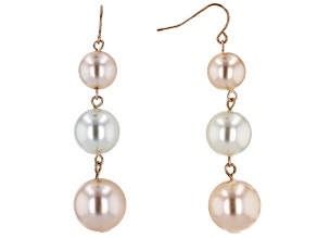 Off Park ® Collection Pink And White Pearl Simulant Gold Tone Dangle Earrings