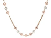 Off Park ® Collection Pink And White Pearl Simulant Gold Tone Necklace