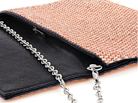 Off Park ® Collection Pink Crystal Silver Tone Clutch