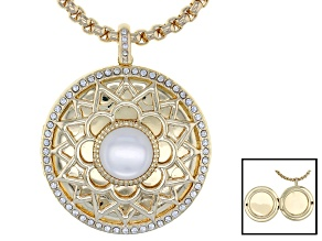Off Park ® Collection, Multicolor Swarovski Elements™ Gold Tone 7th Anniversary Locket