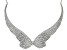 White Crystal Silver Tone Angel Wing Necklace