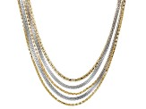 Gold And Silver Tone Multi-strand Necklace