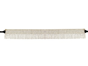 White Crystal Gold Tone Large Statement Belt