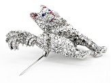 Off Park ® Collection Multicolor Crystal Silver Tone Persian  Brooch