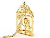 Off Park ® Collection Multicolor Crystal Gold Tone Bird Cage Necklace
