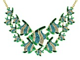 Multicolor Crystal Gold Tone Angelfish Necklace